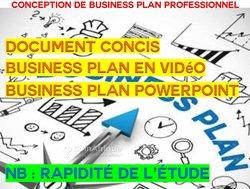 Conception de business plan professionnel