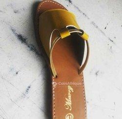Sandales nude femme
