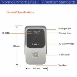 Sonnette WiFi IP Caméra interphone - Intercom - Tuyasmart App