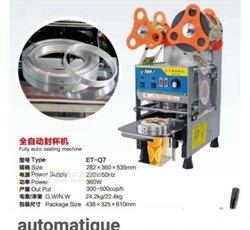 Machine scellage gobelet