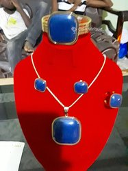 Ensemble bijoux bleus