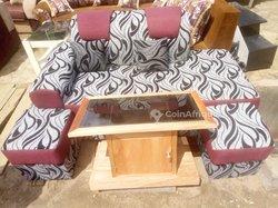 Ensemble fauteuil 2 places + table vitrée