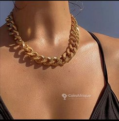 Colliers grosse chaine - collier en perle