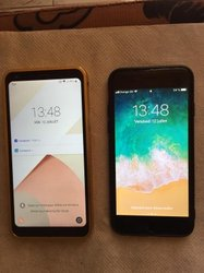 LG Q6 32Go et iPhone 6 Simple 16Go
