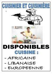 Placement de cuisiniers et cuisinières