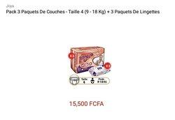 Pack de 3 paquets de couches Joya - taille 4