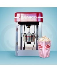 machine à pop corn nasco - pc5400-gs - 340 w