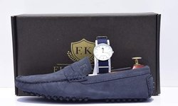 mocassins en daim fk - montre