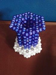 Pot de fleurs en perles