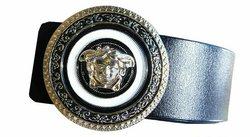 Ceinture Versace, taille ajustable, 100% cuir